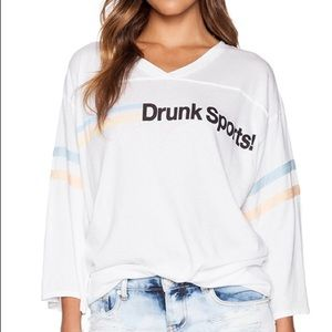 Wildfox Couture Drunk Sports Jersey